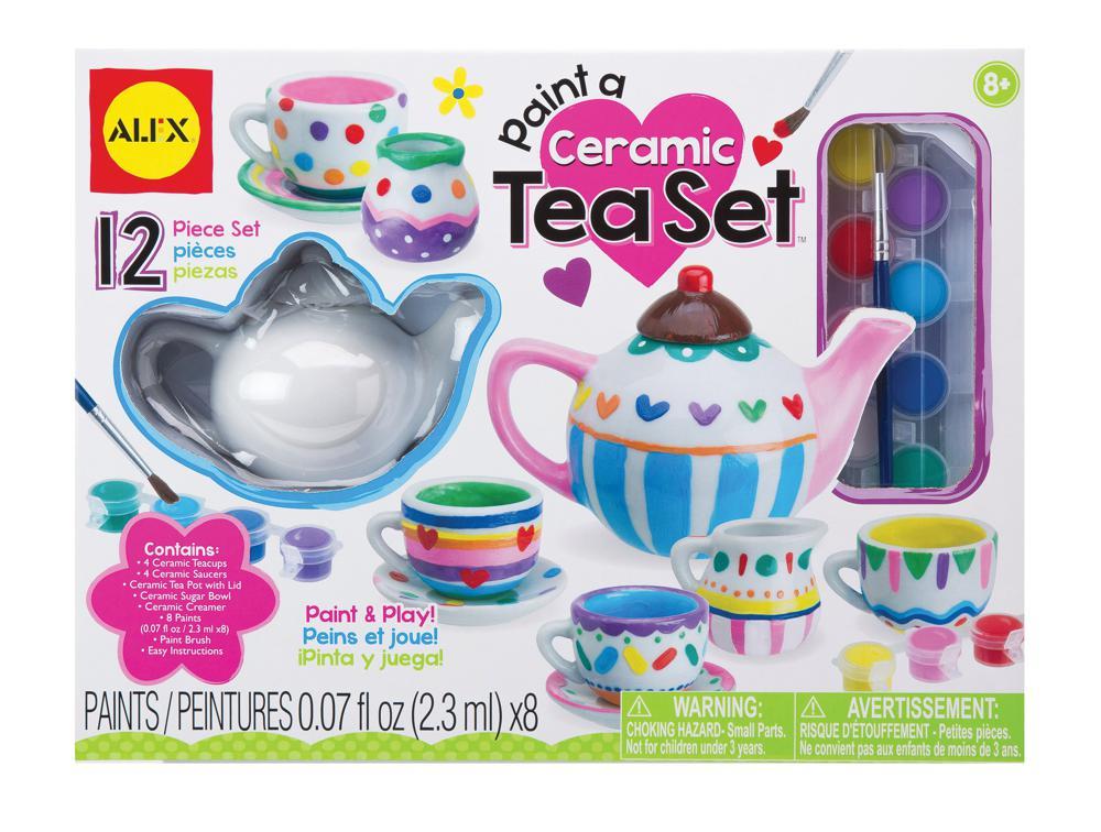Céramique à peindre Ensemble à thé
