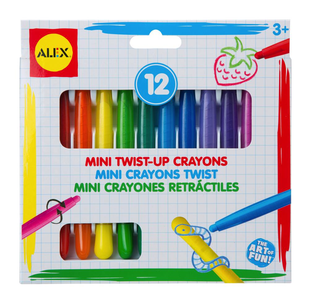 12 Mini Twist Up Crayons