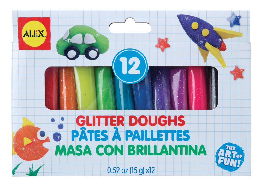12 Glitter Doughs