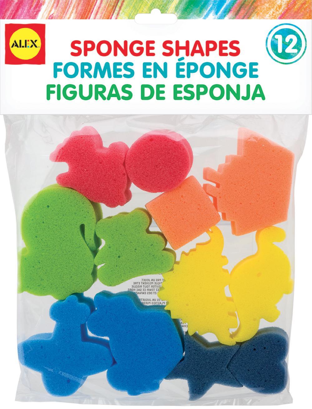 Alex - 12 Sponge Shapes English version