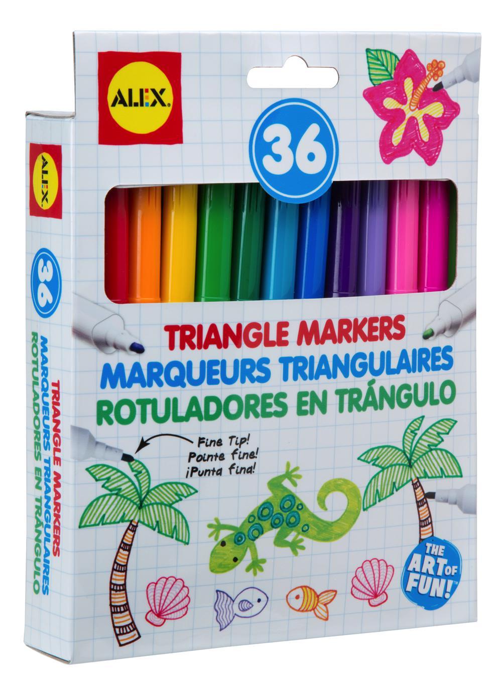 MARQUEURS TRIANGULAIRES 36