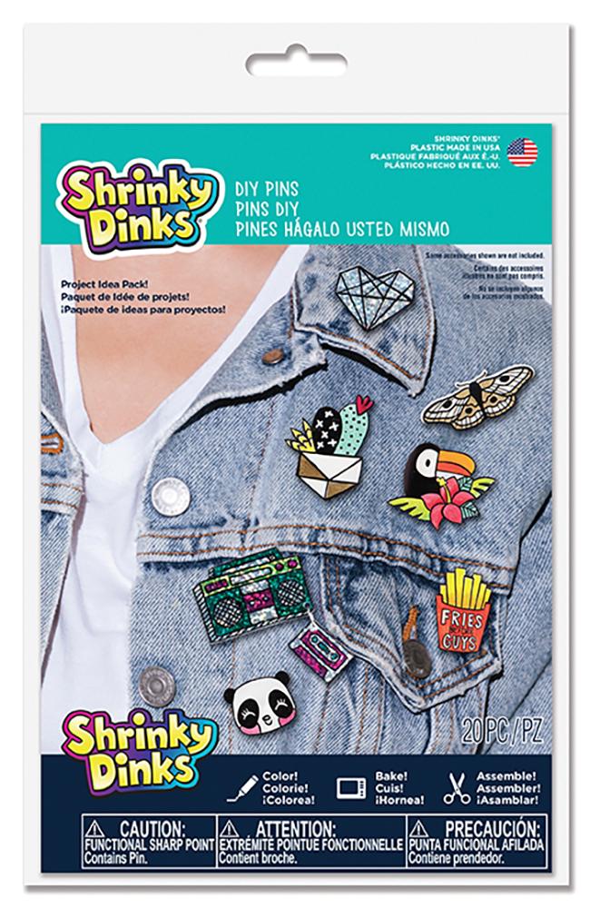 Shrinky Dinks D.I.Y Pins