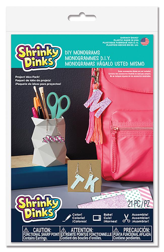 Shrinky Dinks D.I.Y Monograms