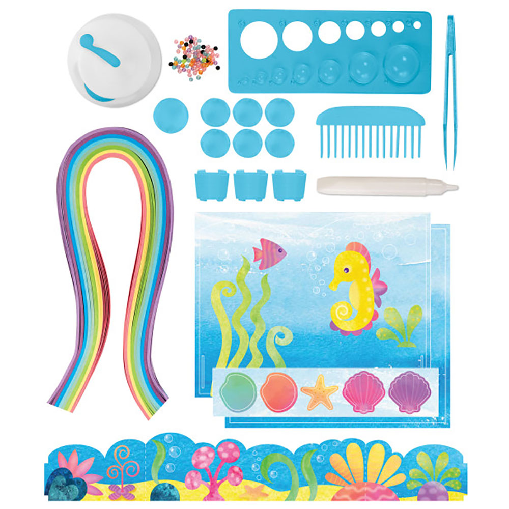 Alex - DIY Paper Swirls Mermaid Ocean