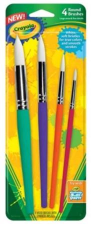 Crayola - 4 Big round brush