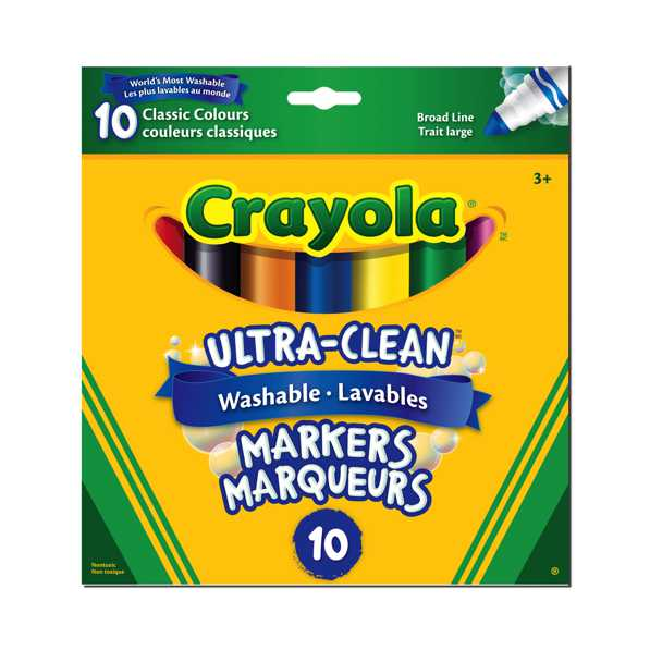 Crayola - 10  ultra clean markers