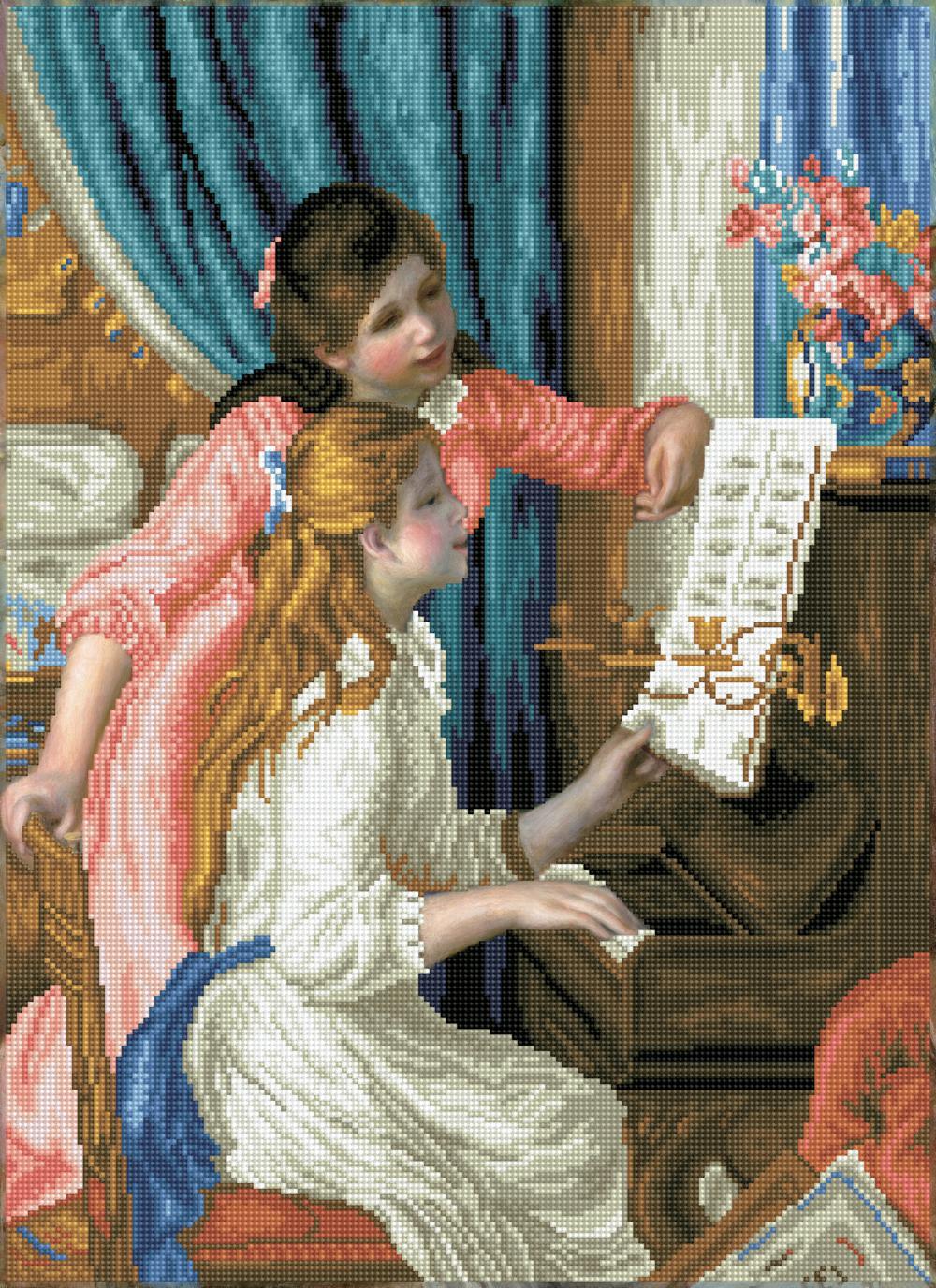 Diamond Dotz - Girls at the piano (Renoir)