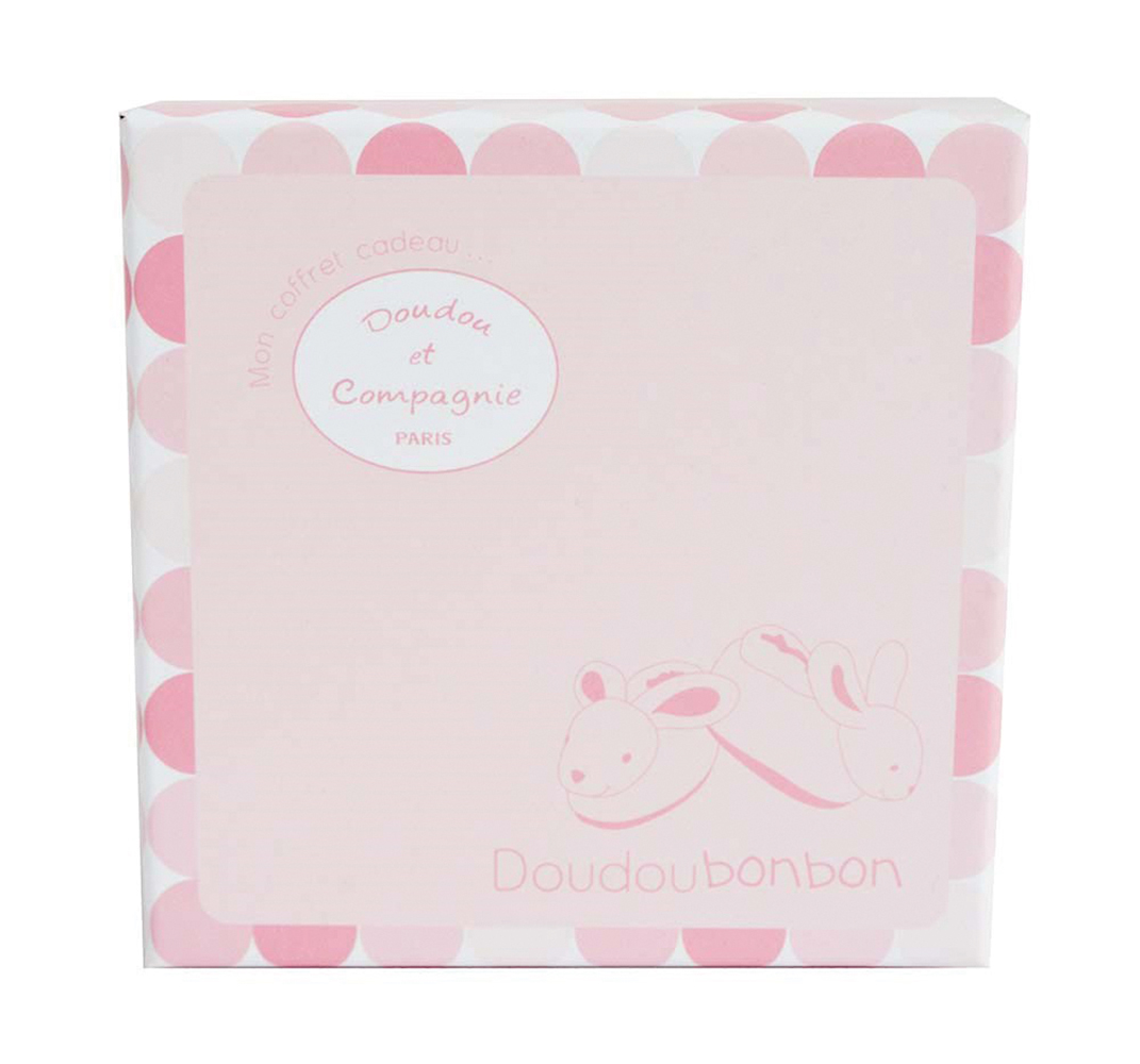 Lapin Bonbon - Pink Bootie with rattle