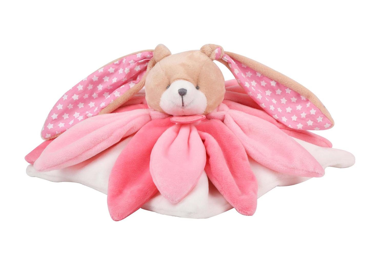 Le Collector-Doudou Rabbit pink 28 cm