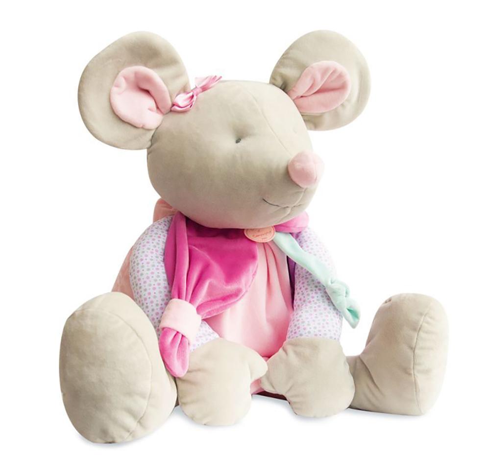 Souris Pearly- Doudou 80 cm
