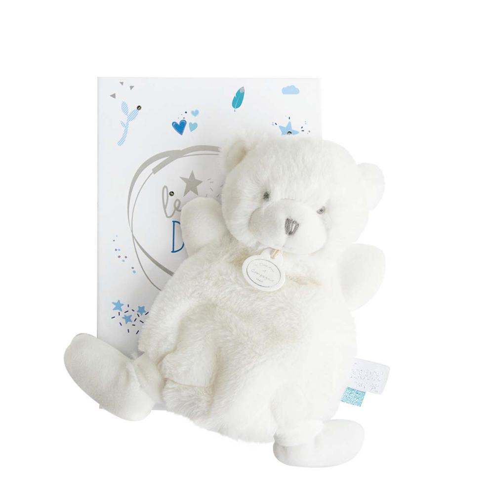 Doudou Tendre-Blue Flat Bear 19 cm