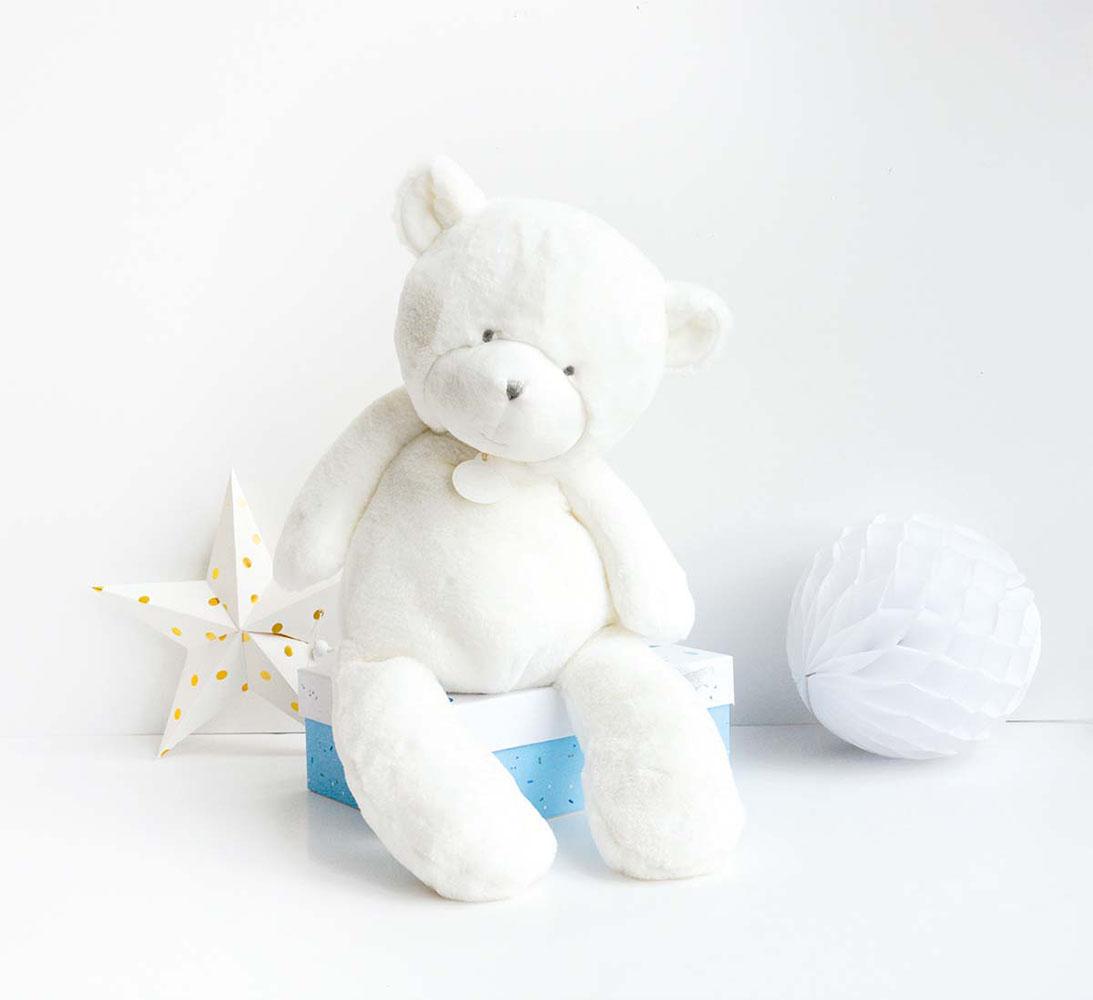 Doudou Tendre-White Bear 50 cm