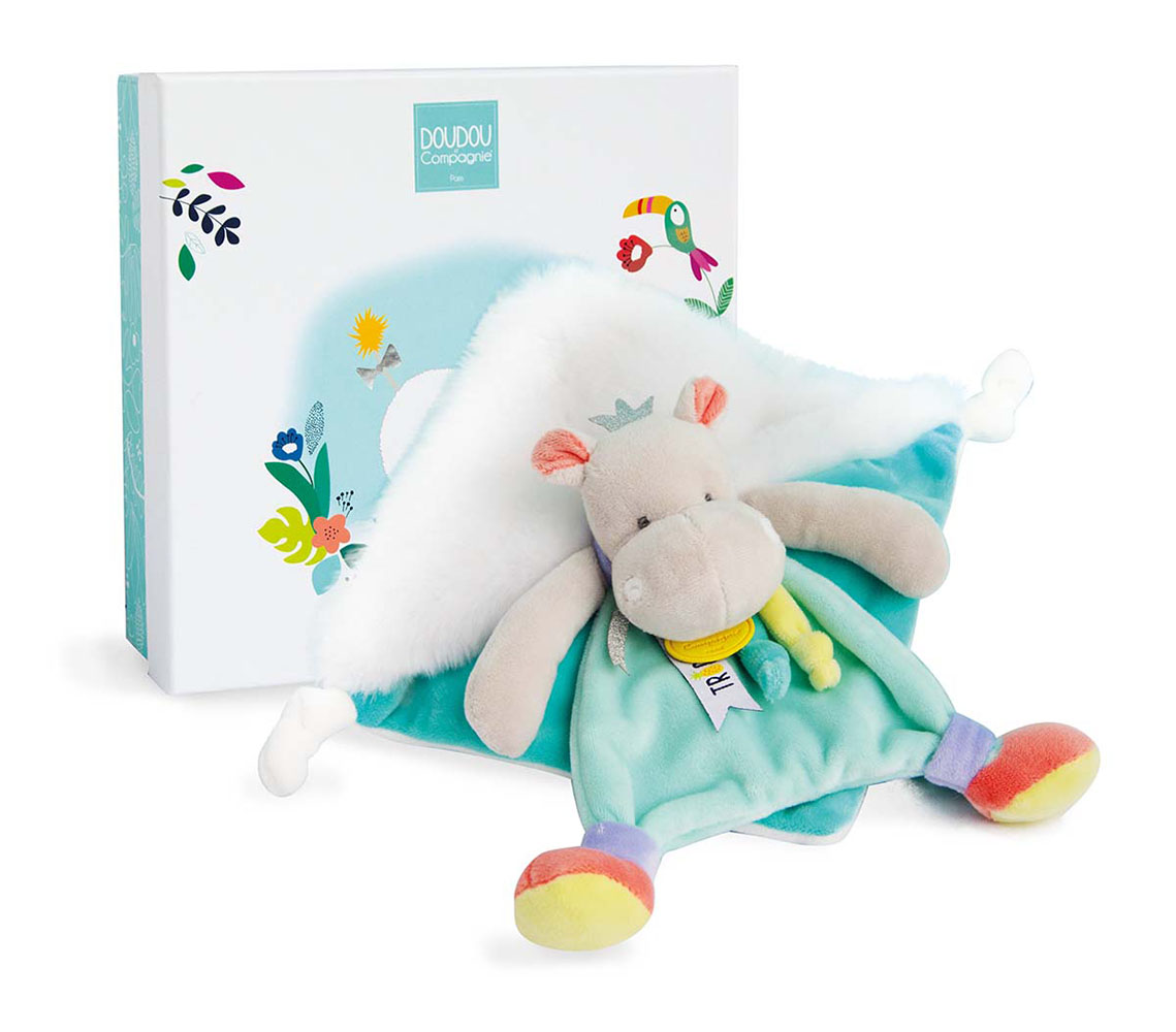 Tropi'Cool - Hippo Doudou 8 inches