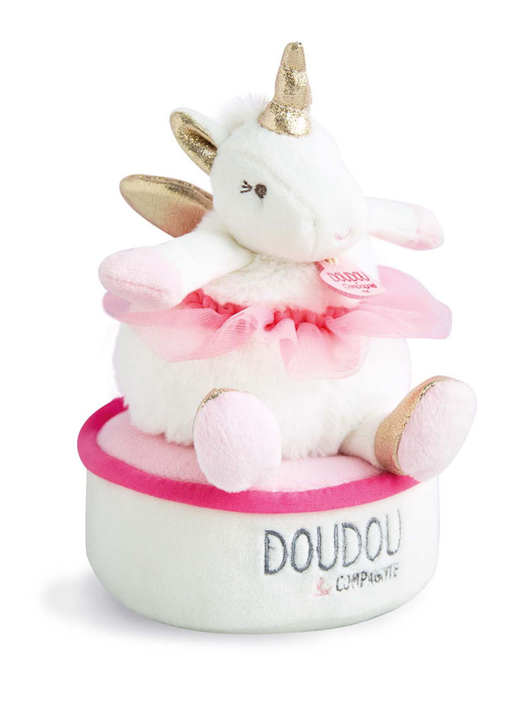 Ma jolie licorne-Musical box Tournicoti 17 cm