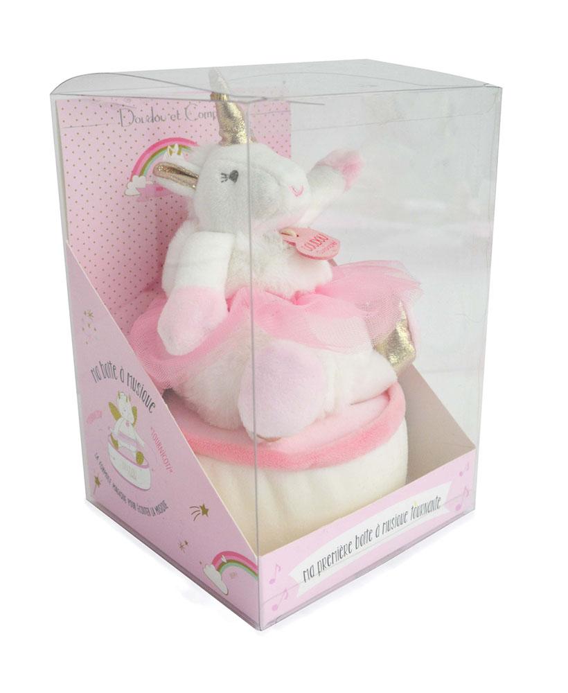 Ma jolie licorne - Musical box Tournicoti 17 cm