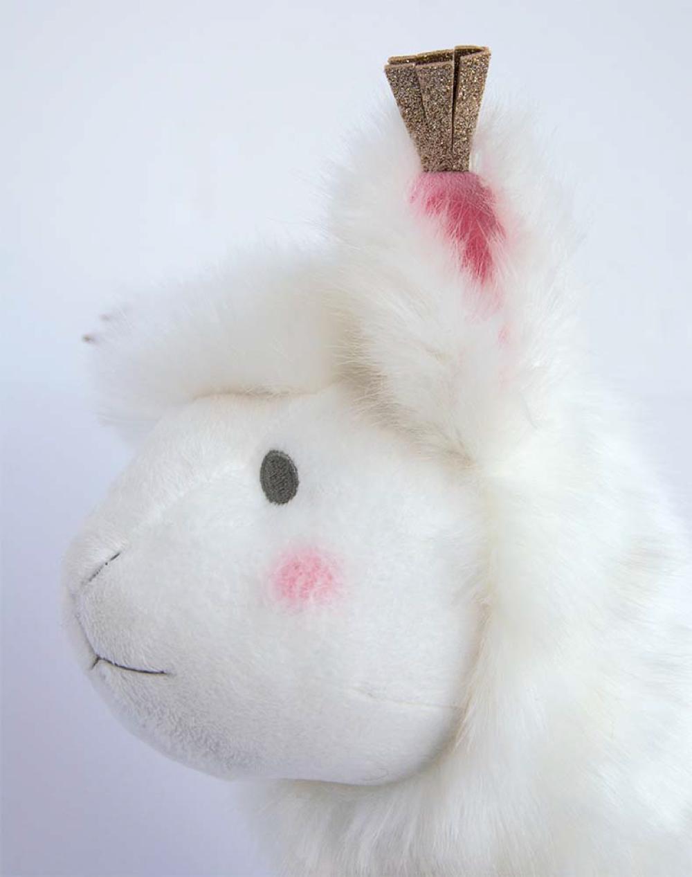 Je rêve!- Lama blanc 30 cm