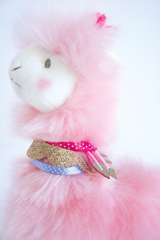 Je rêve! - Lama pink 8 inches
