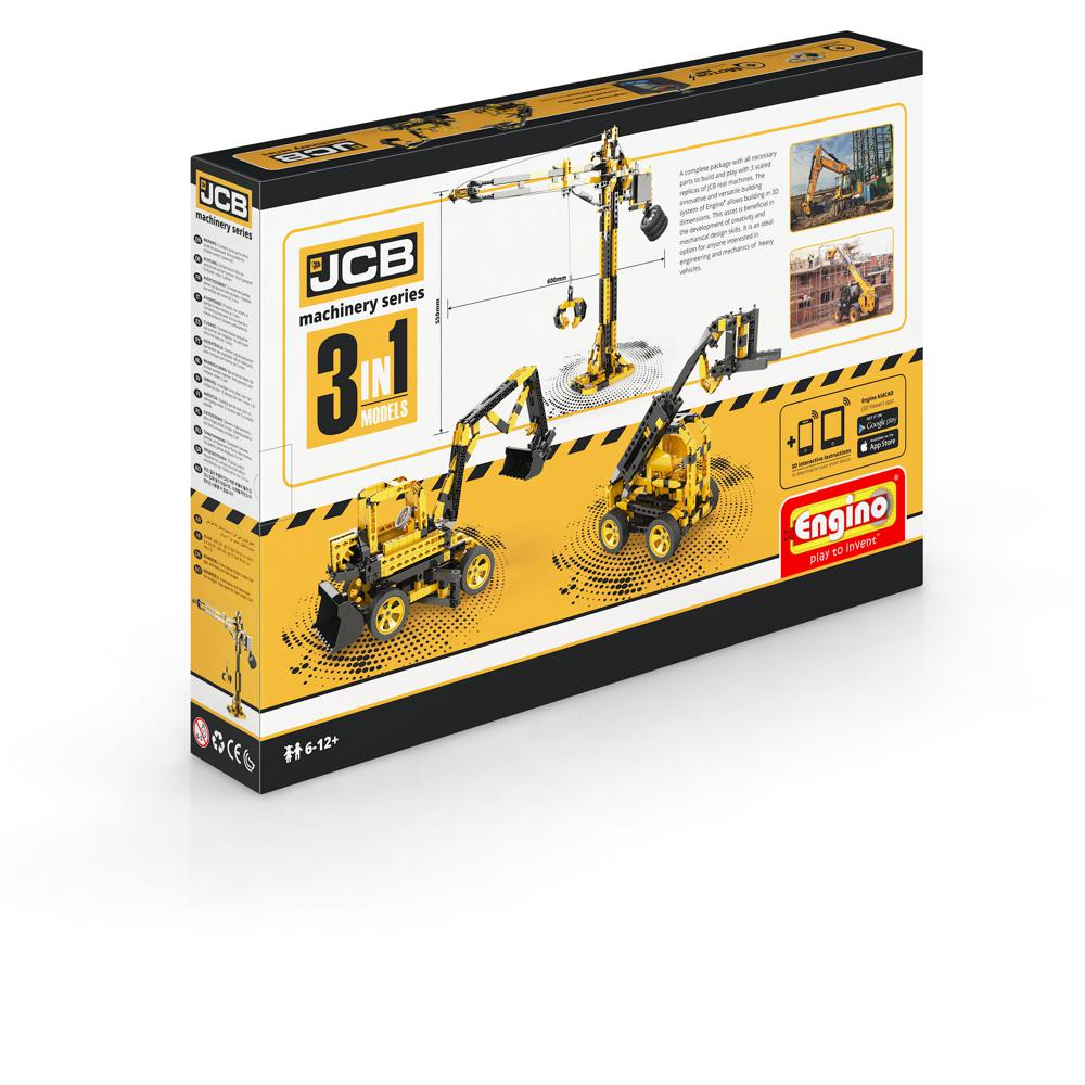 JCB Construction Series Tall Crane Motorized