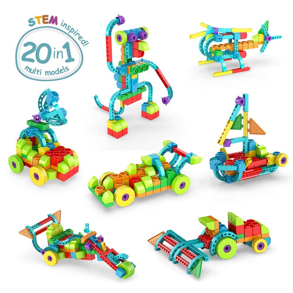 Qboidz 20 en 1 Ensemble multi-modèles 139 pièces