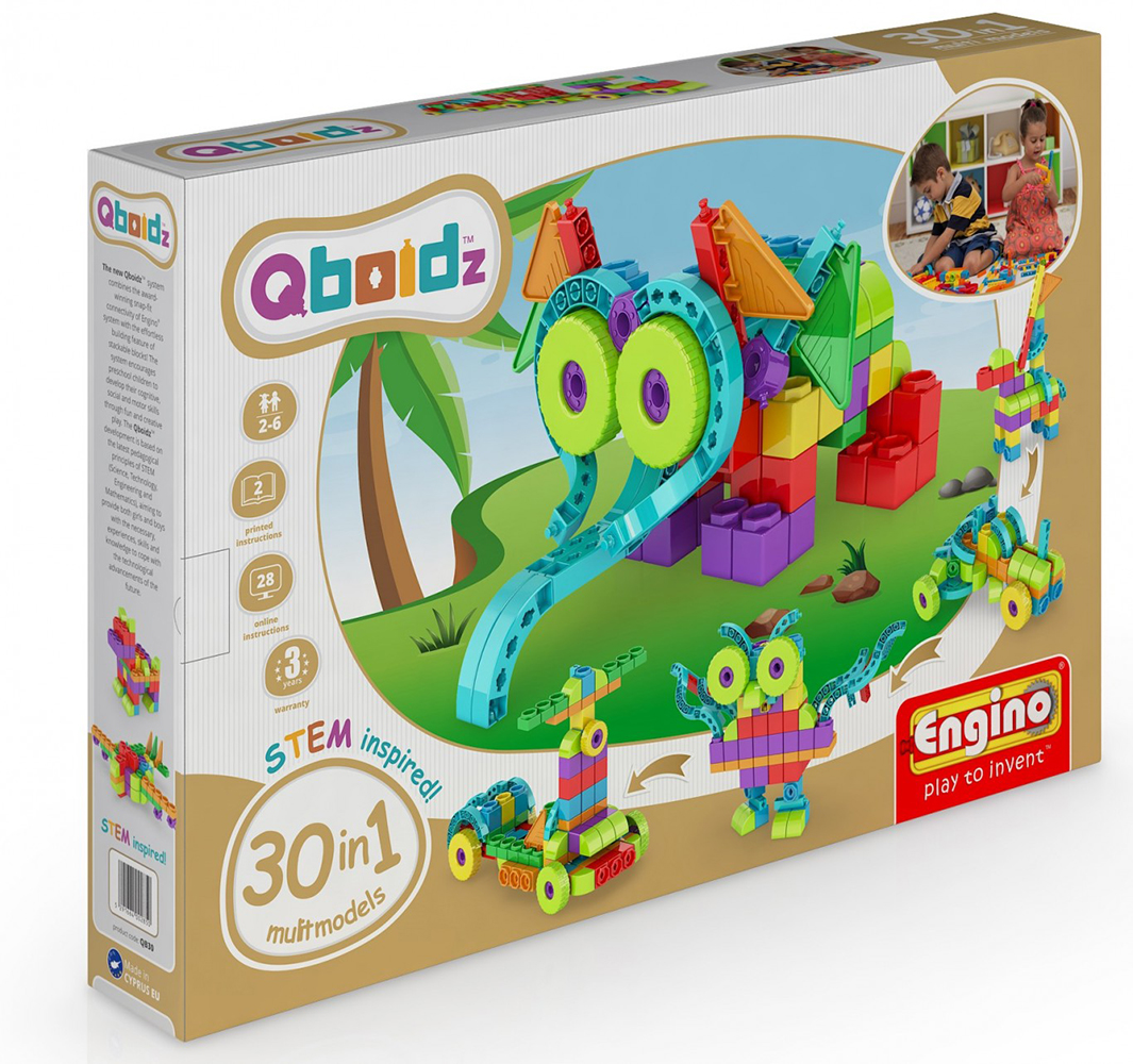 Qboidz 30 in 1 Set Multimodels 170 pieces