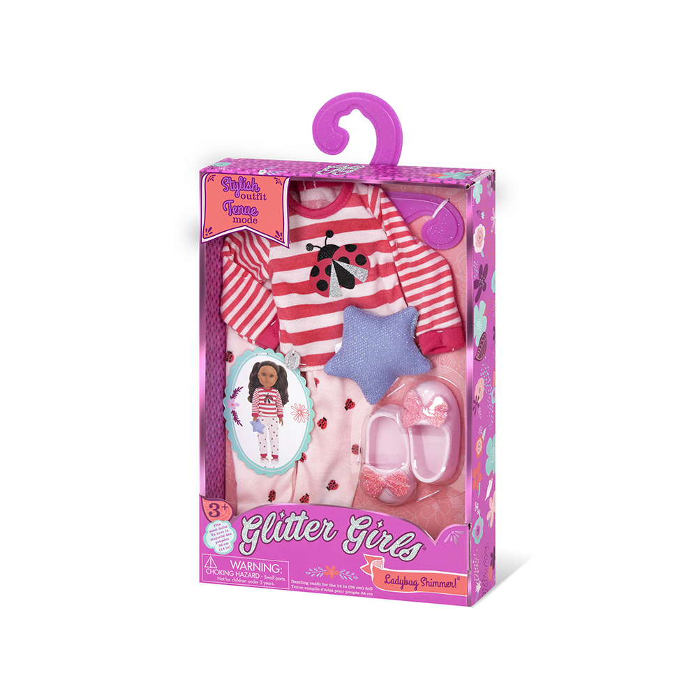 Glitter Girls Outfit -  Ladybug Shimmer for 14'' doll