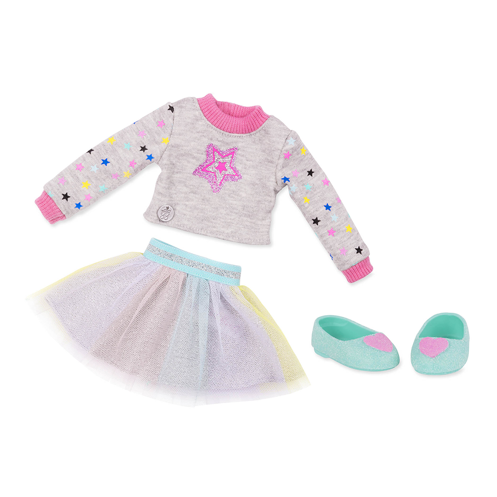 Glitter Girls Doll Tulle Skirt and Sweater Outfit 14