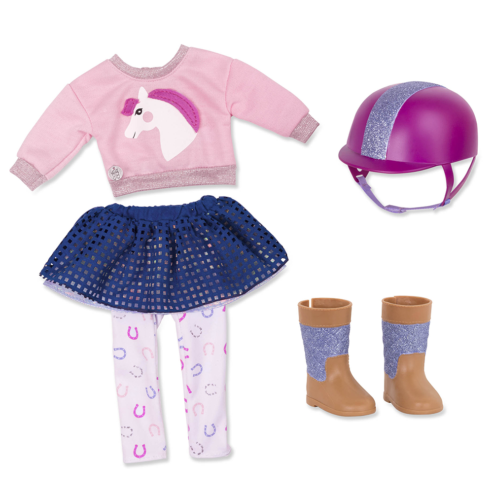 Glitter Girls Deluxe Outfit - Gallop and glow for 14'' doll