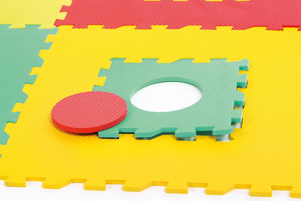 LUDI - Foam Mat Geometric Puzzle 120x120 cm