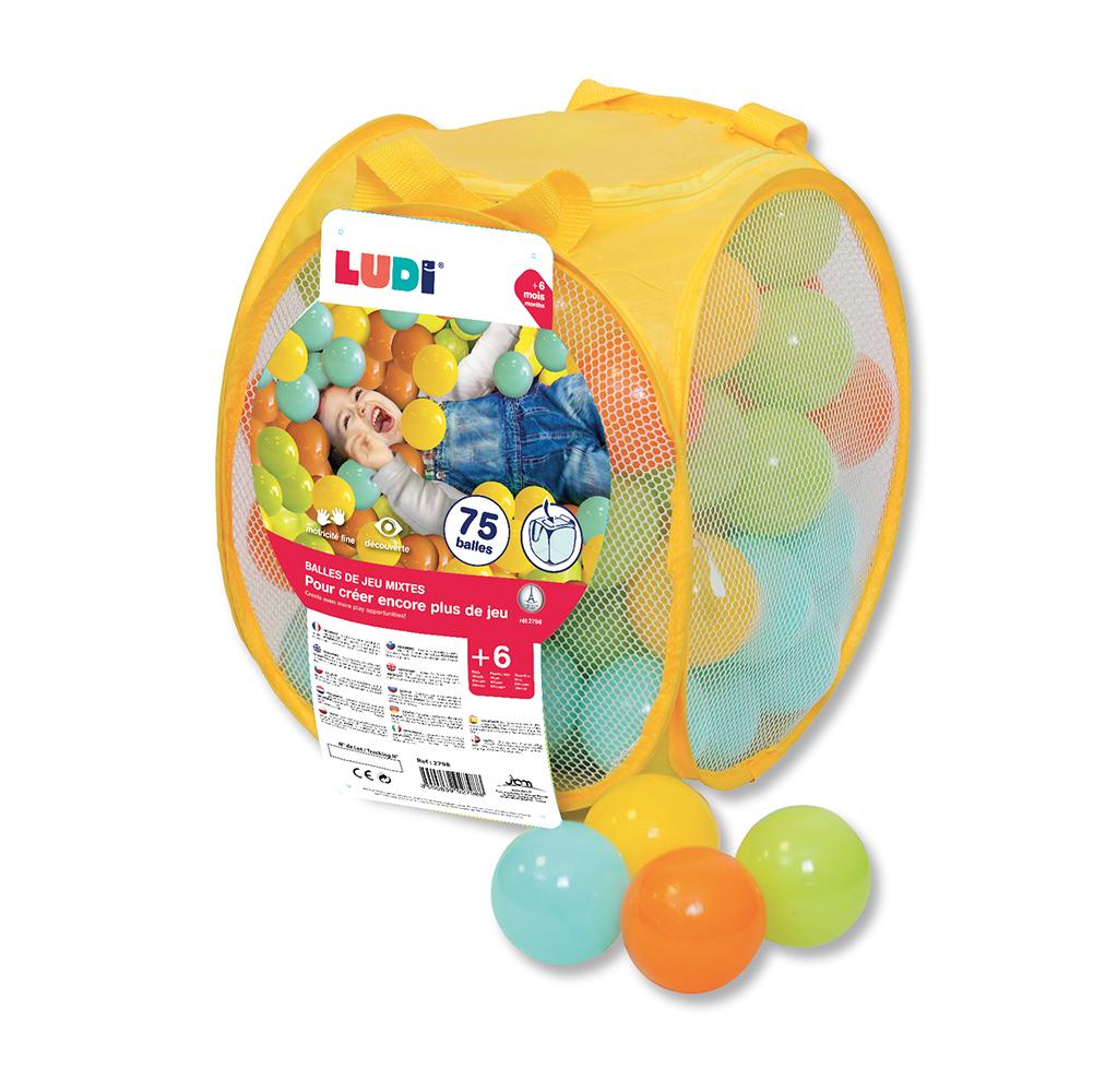 LUDI - Game Balls 75 pieces Mixed