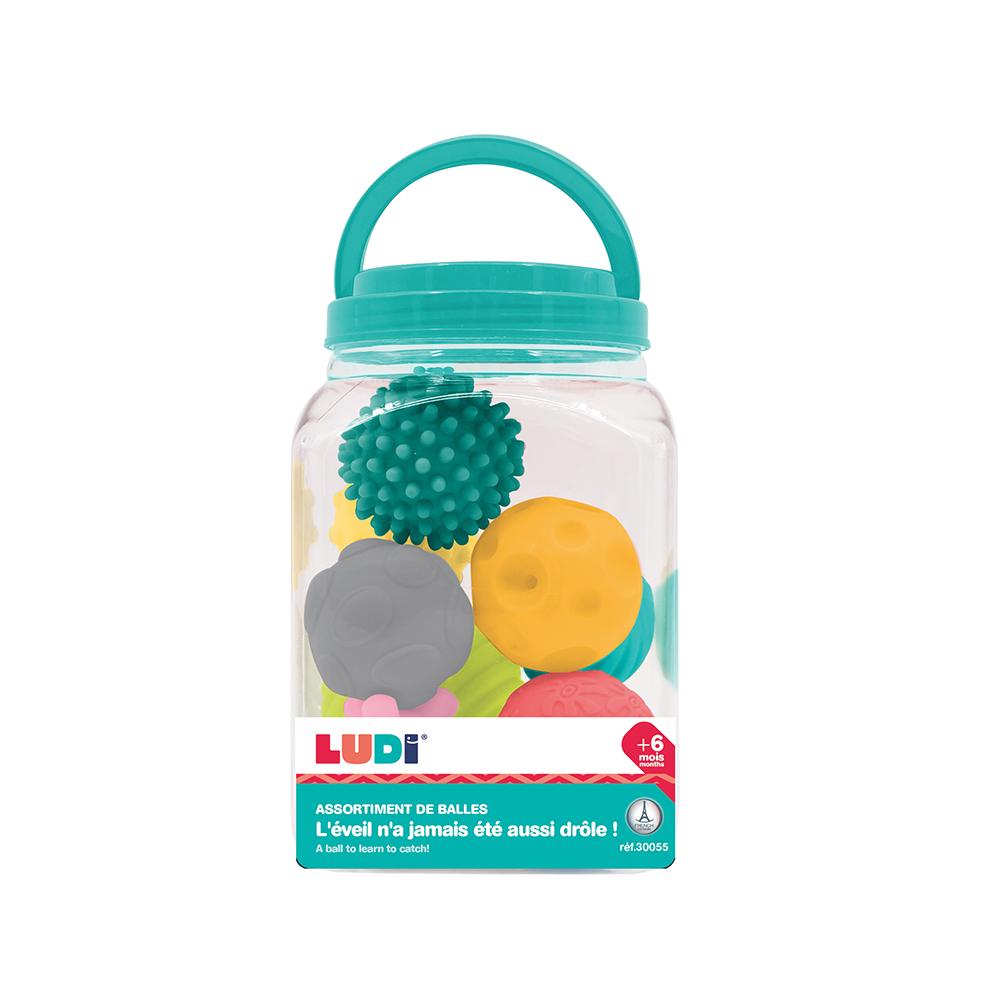 LUDI - Bucket of 8 Sensory Balls
