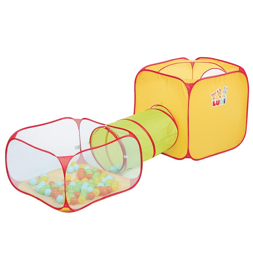 LUDI - Pop-up Fun Playset with 30 Balls