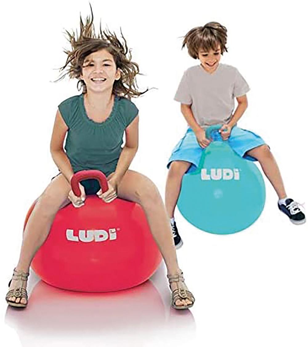 LUDI - Ball Bouncer XXL 55 cm Red