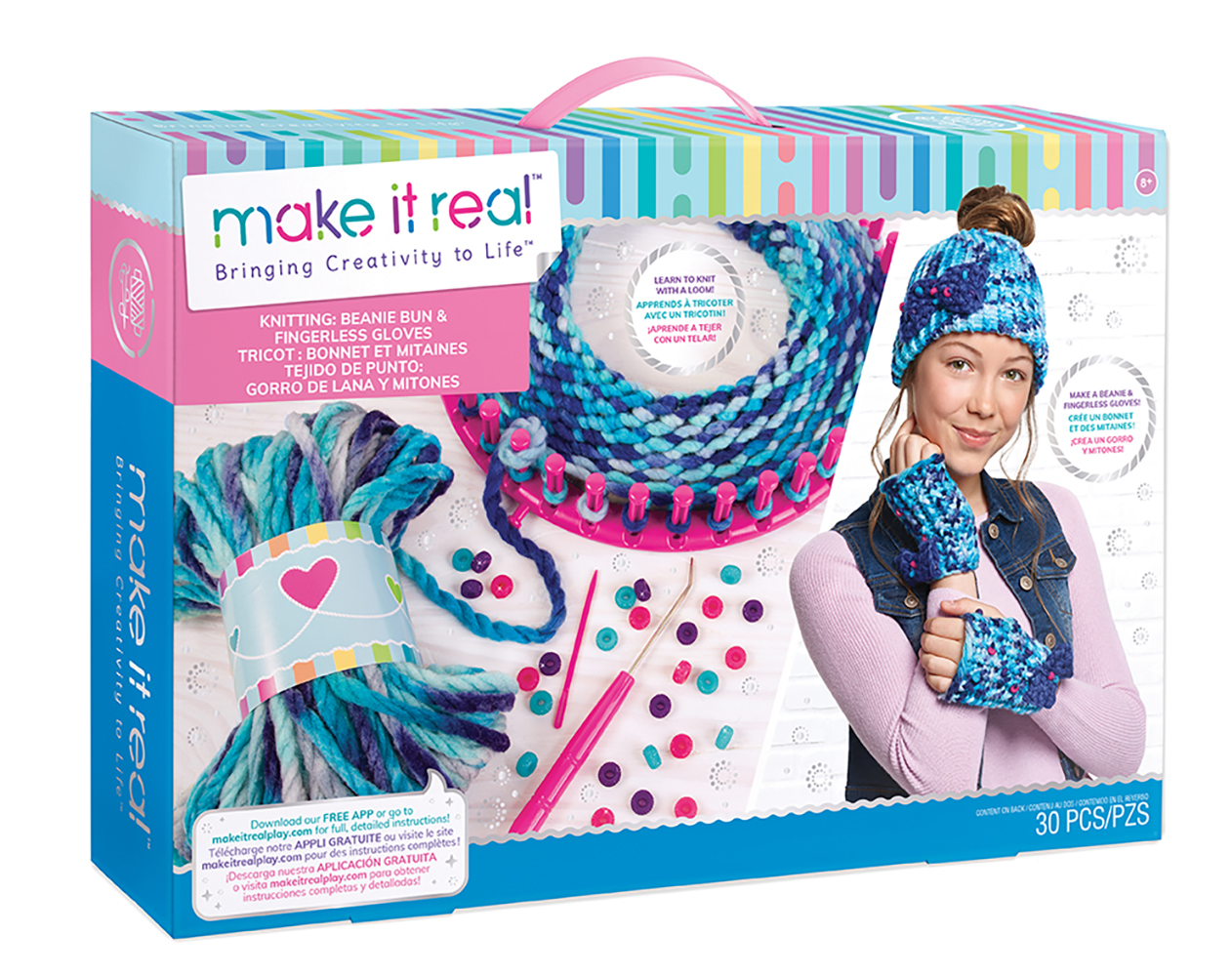 Make it real Tricot bonnet et gants