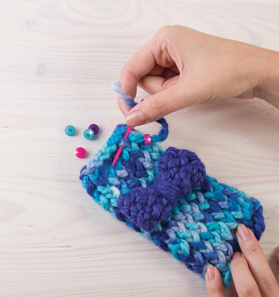 Make it real Knitting Beanie bun & love