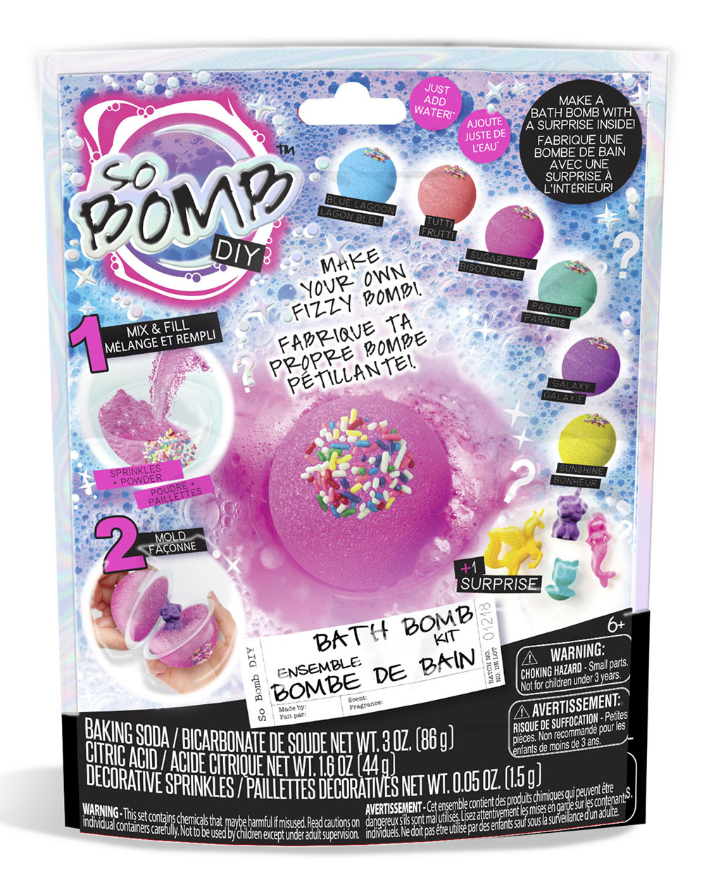 So Bomb DIY Bombe de bain sac surprise