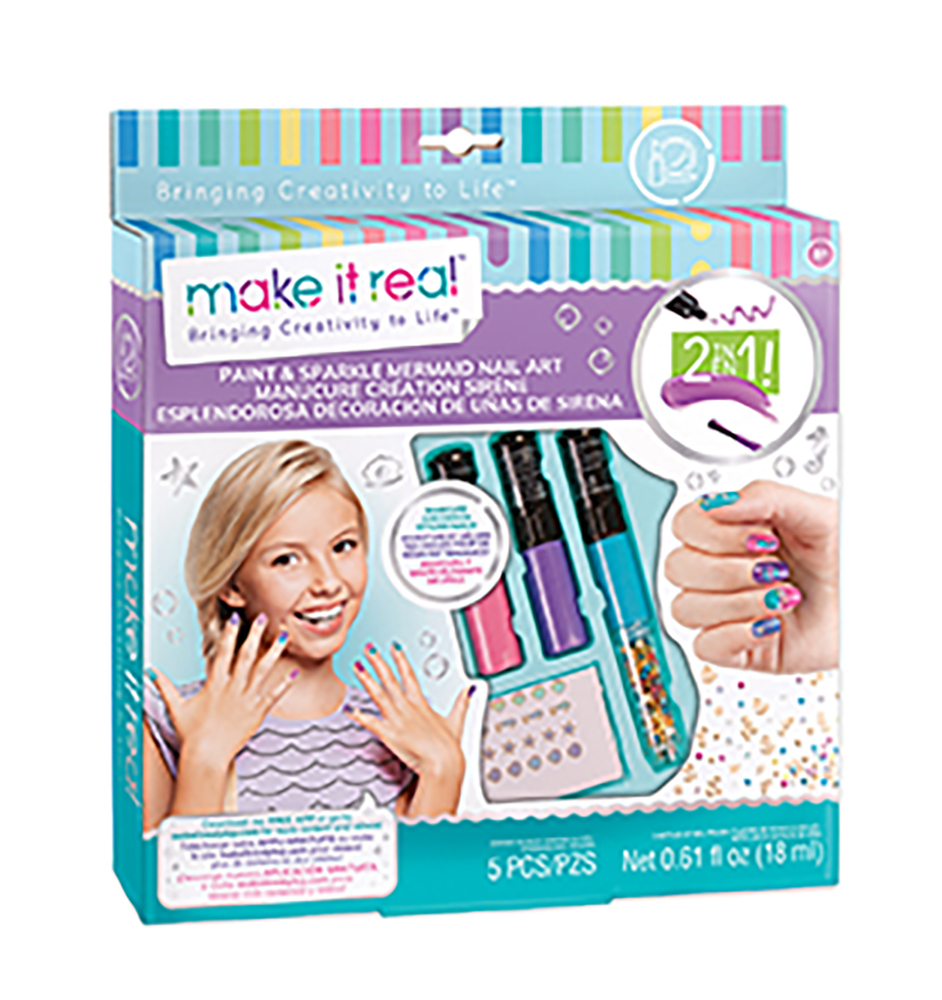 Make it real - Paint and sparkle nail art