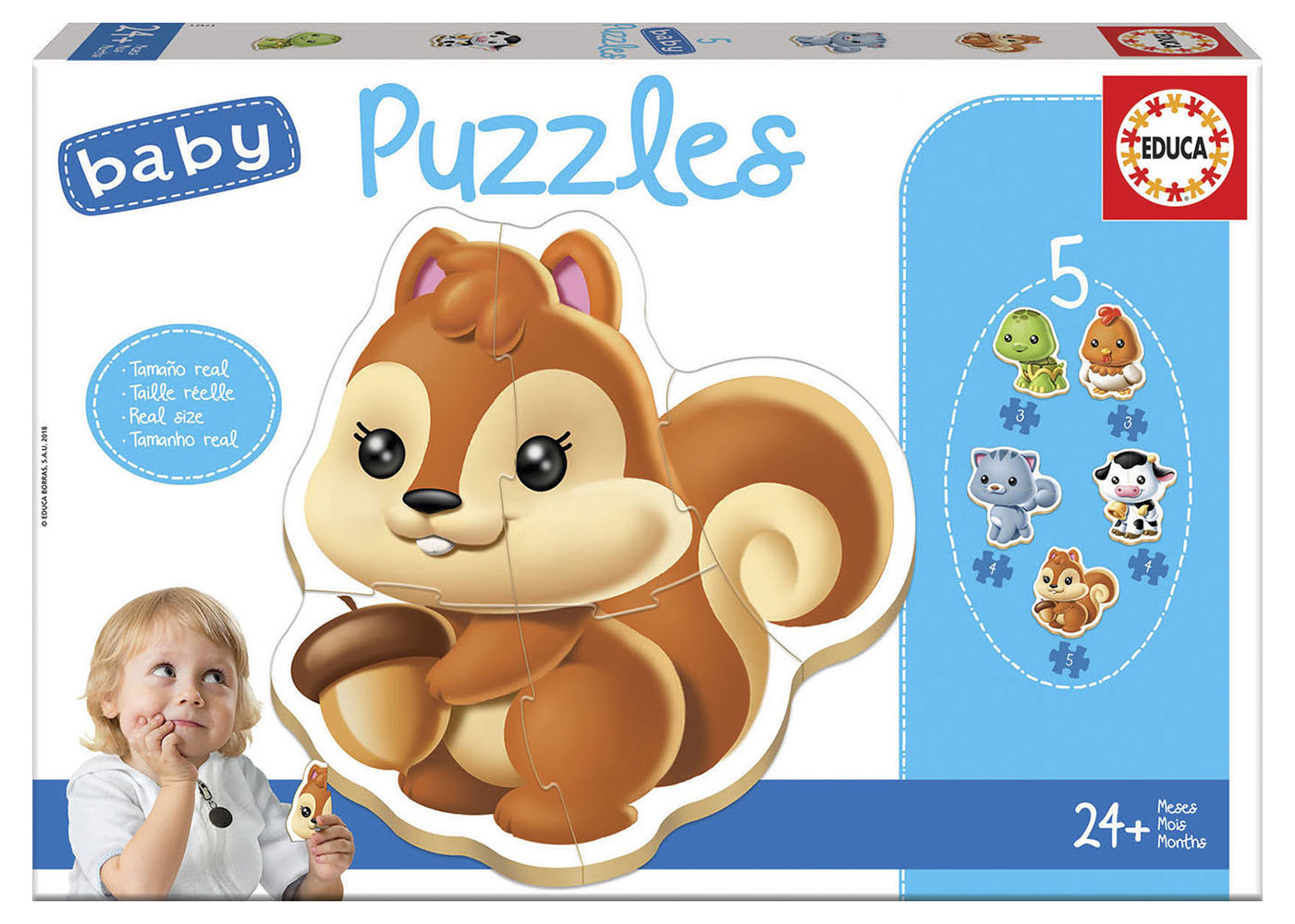 5 Baby Puzzles - Animals Refresh