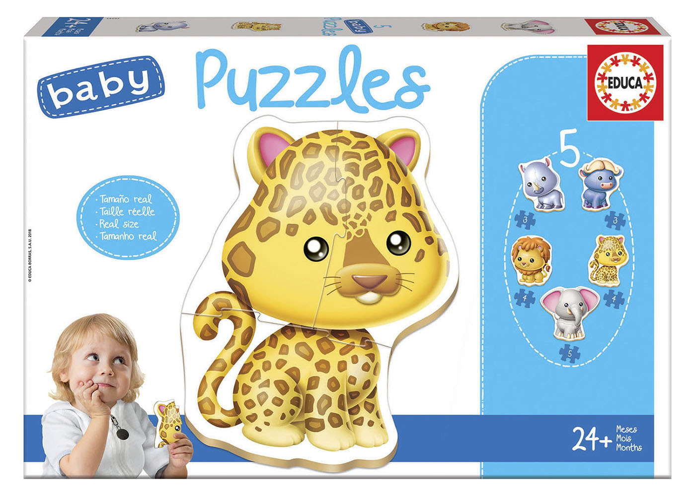 5 Casse-têtes Baby puzzles Animaux sauvages