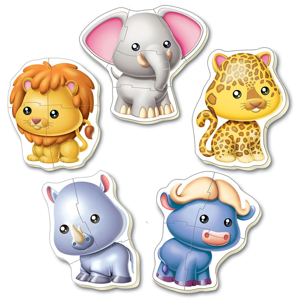 5 Casse-têtes bébé - Animaux sauvages Refresh