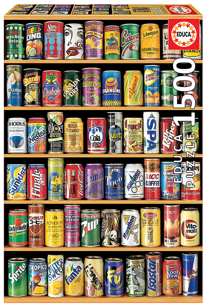 1500 pieces puzzle - Soft Drink Cans