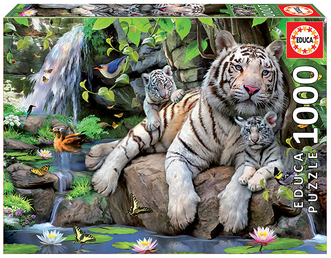 1000 pieces puzzle - White Tigers of Bengal
