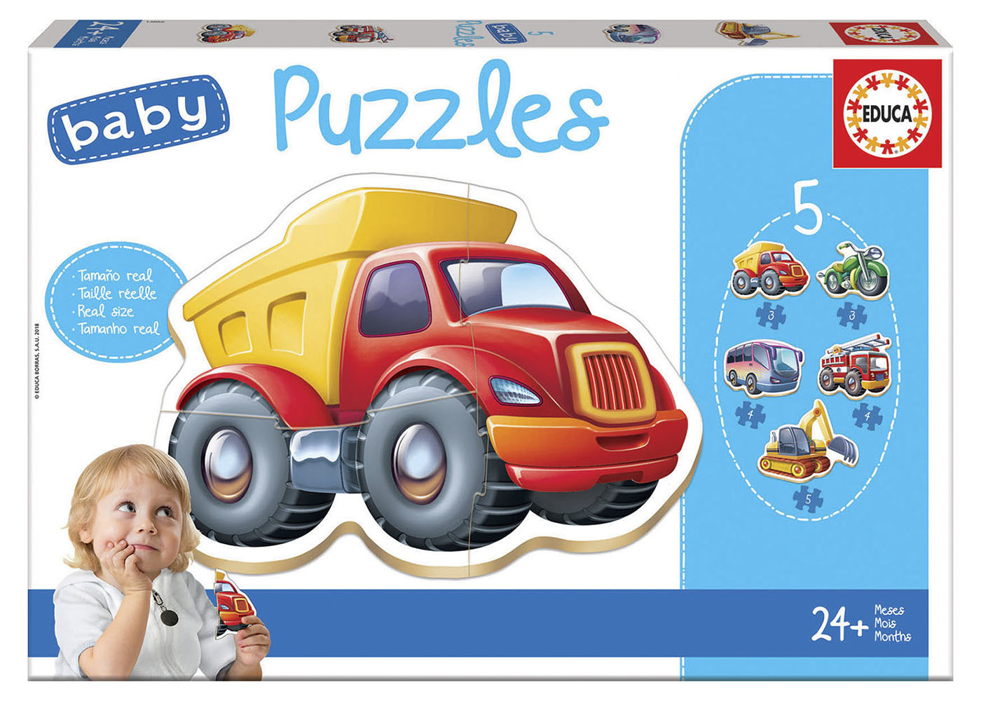 5 Baby Puzzles - Vehicles Refresh