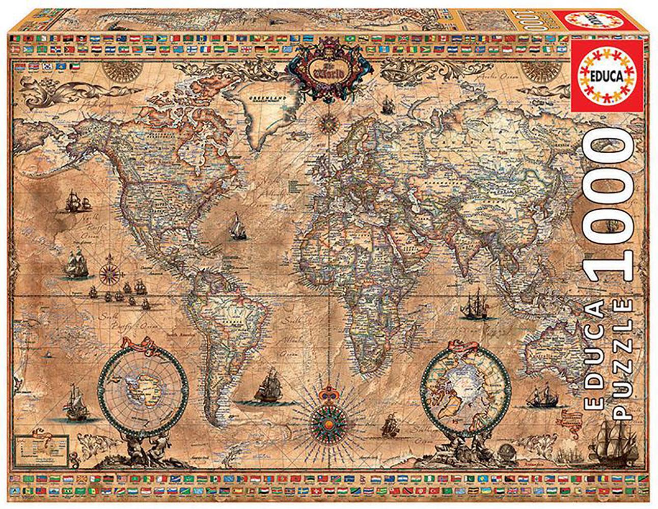 1000 pieces puzzle - Ancient World Map
