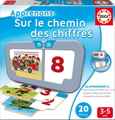 Educa - Apprenons Chemin des chiffres French Version
