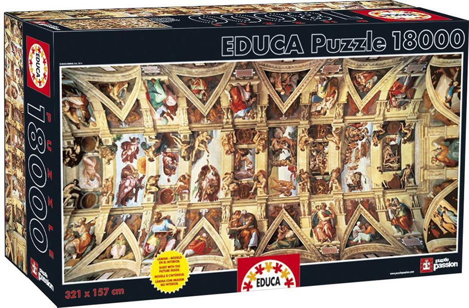 18000 pieces puzzle - Sistine Chapel