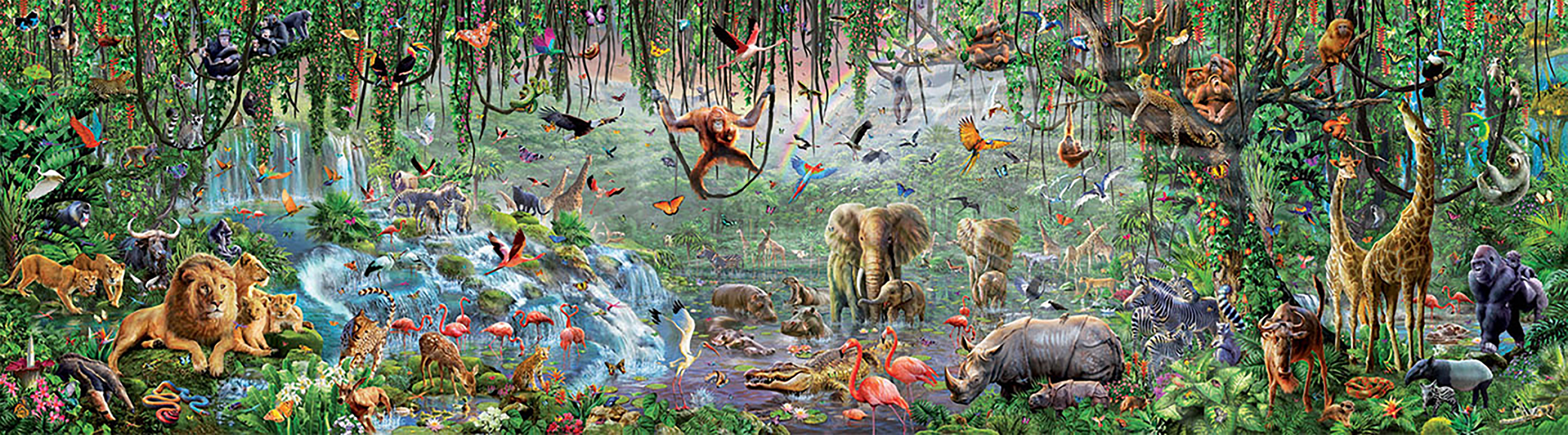 33600 pieces puzzle - Wildlife
