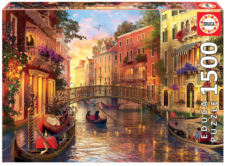 Casse-tête 1500 pièces Coucher de soleil à Venise