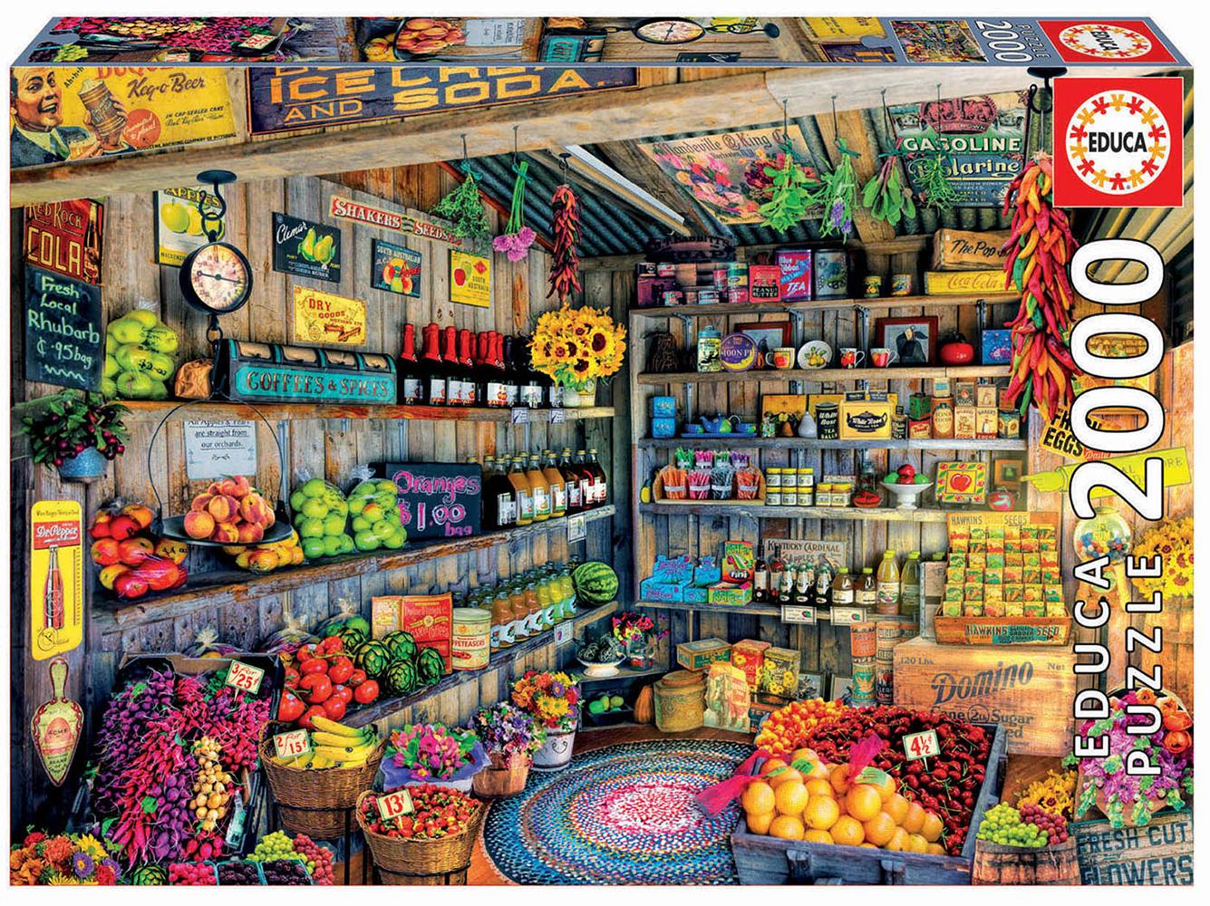 2000 pieces puzzle - Grocery shop