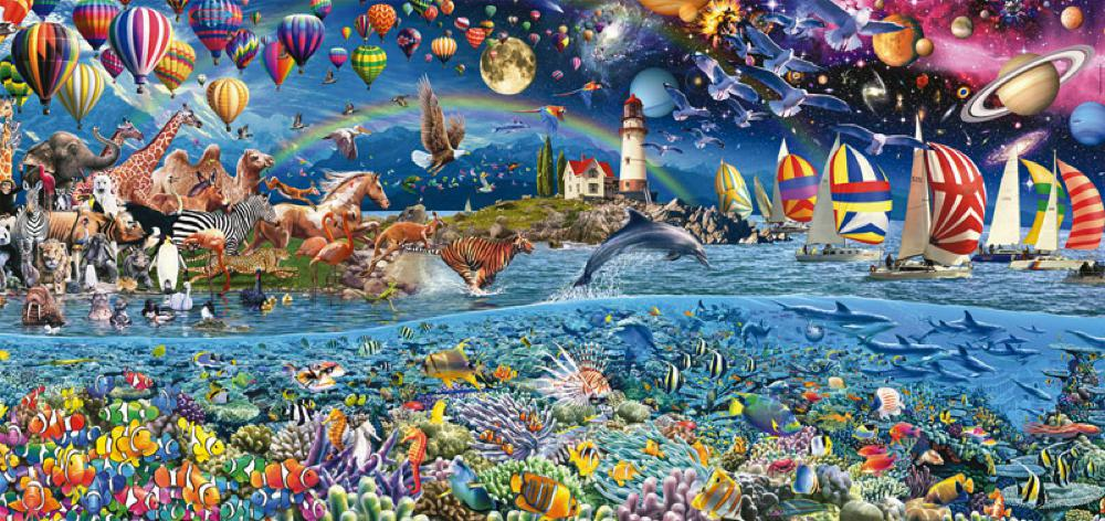 3000 panorama puzzle Life
