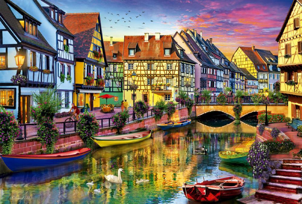 4000 pieces puzzle Colmar Canal, France